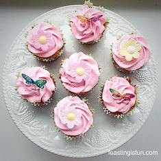 Springtime Vanilla Cupcakes