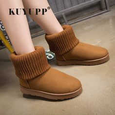 $24.79 (Buy here: https://alitems.com/g/1e8d114494ebda23ff8b16525dc3e8/?i=5&ulp=https%3A%2F%2Fwww.aliexpress.com%2Fitem%2FKUYUPP-Patchwork-Knitting-Wool-Women-Snow-Boots-Winter-Shoes-2016-Flat-Heels-Warm-Plush-Ankle-Boots%2F32725368409.html ) KUYUPP Patchwork Knitting Wool Women Snow Boots Winter Shoes 2016 Flat Heels Warm Plush Ankle Boots Slip On Womens Booties DX119 for just $24.79