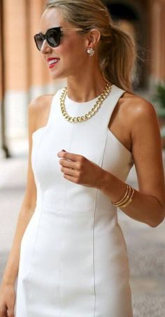The perfect white dress for a warm summer day...