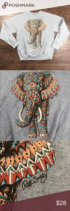 Riot Society Aztec Elephant Sweatshirt Size M •bust: 21 •length: 25 •Sleeves: 21.5 •materials: cotton blend •condition: excellent condition- preowned with no flaws •Measurements are approximate •No trades, offers welcome. •b8 riot society Tops Sweatshirts & Hoodies