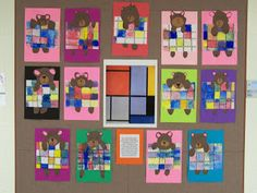 WHAT'S HAPPENING IN THE ART ROOM??: 1st GRADE--Mondrian Bears
