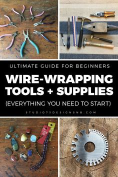 Wire Wrapping Tools, Wire Wrapping Tutorial, Wire Wrapped Jewelry, Wire Jewelry, Jewlery, Wire Tutorials, Jewelry Making Tutorials, Jewelry Tools, Jewelry Crafts