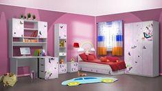 Arata detalii pentru Camera tineret Butterfly Bunk Beds, Toddler Bed, Butterfly, Room, Furniture, Design, Home Decor, Child Bed, Bedroom