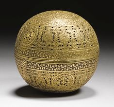 A MAMLUK SPHERICAL BRASS INCENSE BURNER, SYRIA, 15TH CENTURY / Sacred Spaces <3