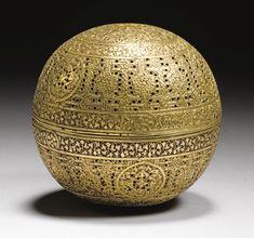 A MAMLUK SPHERICAL BRASS INCENSE BURNER, SYRIA, 15TH CENTURY / Sacred Spaces <3
