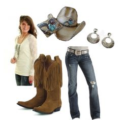 Simple Cowgirl Style, created by cowgirltuffcompany on Polyvore