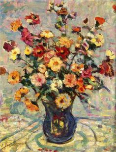 Still Life with Flowers - Maurice Prendergast, c.1910-3