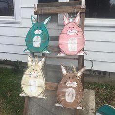 cute wood easter bunny