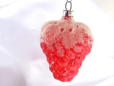 #Vintage Unsilvered #Red Grapes #Christmas Ornament West Germany. $20.00, via Etsy.