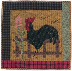 Chicken Quilt Block