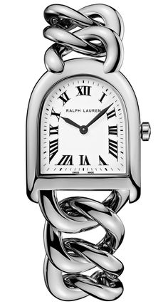 A vivid expression of Ralph Lauren's deep appreciation for tradition and enduring style, the Stirrup Watch collection captures equestrian heritage with its signature stirrup-shaped silhouette.