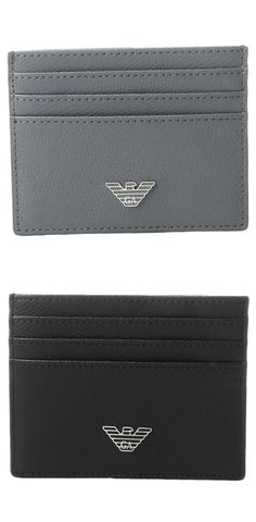 Deal yourself a winning hand.  Ace amazing by playing powerfully with the desired detail of the #EmporioArmani #Grained #Card #Holder. #mens #wallet #accessory #accessories