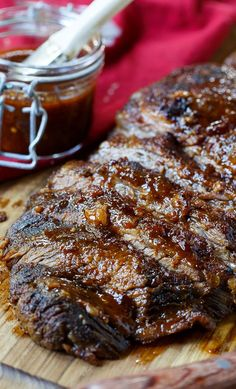 Oven-Barbecued Beef Brisket recipe. We're kind of obsessed with this recipe- perfect for the big game!