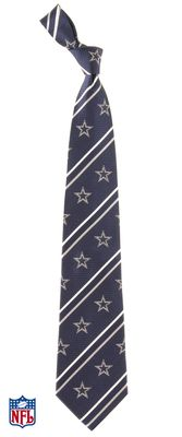Dallas Cowboys Cambridge Striped Silk Necktie