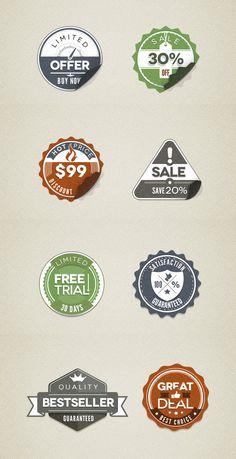 Modern Vintage Stickers Badges