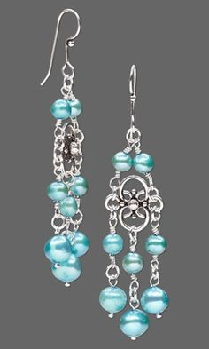 Jewelry Design - Earrings with Cultured Freshwater Pearls and Sterling Silver Links - Fire Mountain Gems and Beads