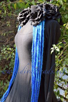 Mixed Sky Blues Dread Lock Falls by DivaDreads on Etsy