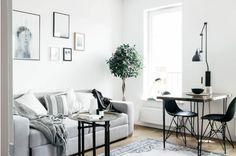 34-metrowe mieszkanie w Krakowie. Urządzone po skandynawsku - w bieli, zieleni i delikatnych szarościach