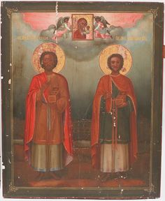 Science of the Saints, Nov.), Holy Martyrs and Wonderworkers Cosmas and Damian, Unmercenary Healers Saint 14, Saint Feast Days, Russian Orthodox, Orthodox Christianity, Orthodox Icons, Pagan, Catholic, Brother, Painting
