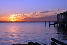 Sunset over the Roanoke Sound, Nags Head.