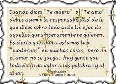 SUEÑOS DE AMOR Y MAGIA: Cuando dices te quiero o te amo