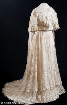 Stunning Edwardian wedding dress for sale again - 104 years after its last wearer walked down the aisle