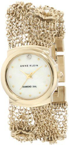 c0427b0559b Anne Klein Women s 10 9780MPGB Swarovski Crystal Accented Rope Chain  Diamond Dial Watch on shopstyle.com