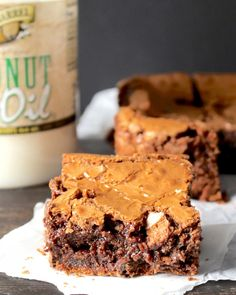 Brownies made with Golden Barrel Coconut Oil - maybe with a few ingredient switches this could be AIP complient