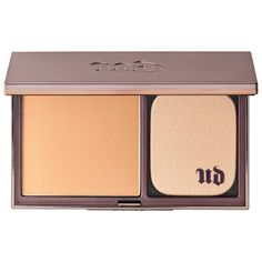 Urban Decay - Naked Skin Ultra Definition Powder Foundation: An ultra-creamy, buildable, wet or dry powder foundation that leaves a weightless feel and demi-matte, Naked Skin finish. #Sephora #foundation
