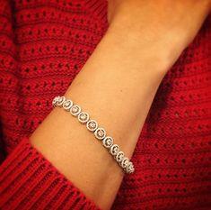Rosecut Diamond Halo bracelet. Something Unique for the one you love 14K white gold 2.66 CTs Diamonds