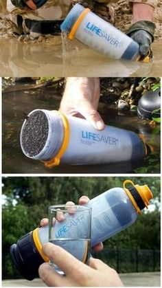 The LIFESAVER bottle - instant water purification, no chemicals used
