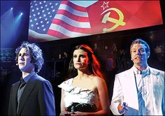 Josh Groban, Idina Menzel and Adam Pascal in Chess