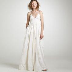 Gorgeous silk J.Crew gown.  Makes me want to get married in Mexico.