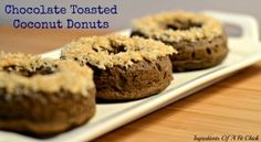 Chocolate Donuts with Toasted Coconut via www.ingredientsofafitchick.com