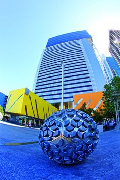 Have you seen Donna Marcus' 'Steam' public artwork in Reddacliff Place, Brisbane Square, 266 George Street, Brisbane? Soccer Art, Football Art, Public Art, Brisbane, Street Art, Yard, Australia, Sculpture, Places