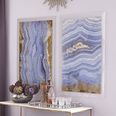 Agate Wall Art – Cabazon - Wisteria.com So expensive, though. Going to have to try to DIY this!
