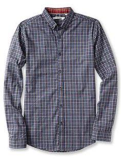 Ben Sherman Long Sleeve One Finger Button Down Collar Shirt | Piperlime