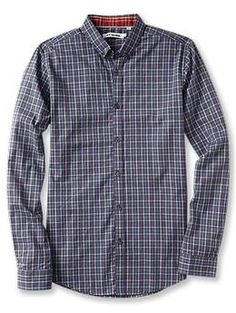 Ben Sherman Long Sleeve One Finger Button Down Collar Shirt | Piperlime