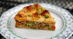 Gourmet Girl Cooks: Zucchini Tomato & Parmesan Biscuit Frittata (Grain-Free Breakfast Casserole)