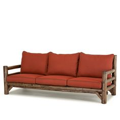La Lune Collection Rustic Sofa (Shown in Kahlua Finish) Rustic Sofa, Rustic Furniture, Outdoor Furniture, Outdoor Sofa, Outdoor Decor, Zurich, Furniture Making, Dream Homes, Chairs