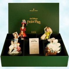 Disney Peter Pan Radko Christmas Glass Blown ornaments (Peter Pan, Captain Hook, Jolly Roger Ship, Wendy John & Michael) box set