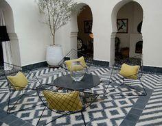 Amazing ikat/cheveron tiled floor