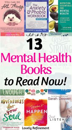 Here are 13 Mental Health books to add to your reading list! This list includes fiction and non-fiction mental health books, guided-journaling, meditation. Mental health books for women. Reading Lists, Book Lists, Tea Reading, Reading Club, Non Fiction, Understanding Anxiety, Inspirational Books, Motivational Books, Nonfiction Books