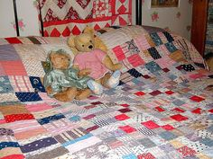 Late Victorian quilt, a favourite with Bertie and Aloysisus