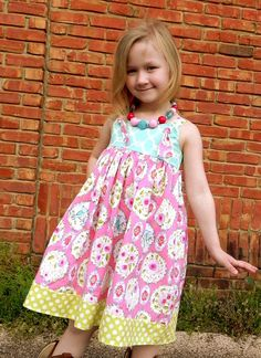 Lovey Birds Knot Dress Sizes 612 month 1218 by firefliesandmudpies, $42.00