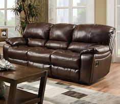 Serving Dallas, Irving, Ft Worth, Plano & beyond - NO CREDIT financing availble - Shop the lowest prices on furniture, mattresses & home décor now! Leather Reclining Sofa, Bonded Leather, Recliner, Relax, Couch, Brown, Furniture, Vintage, Home Decor