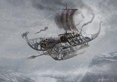 #Steampunk Tendencies   Airship by Eddie Bennun