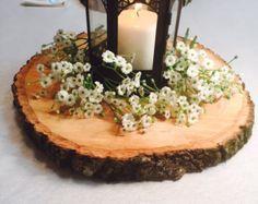 11-12 cargadores de madera Decoración de mesa por RusticWoodSlices