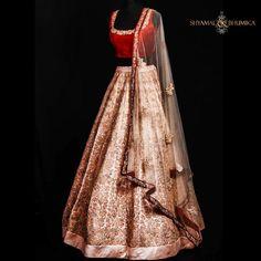 Shyamal & Bhumika red and cream bridal