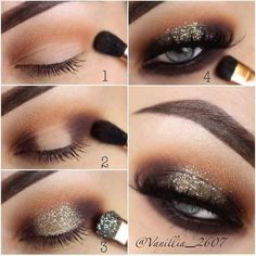 Beaming Glitter Smokey Eyes Makeup Tutorial